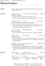 Example Of Bartender Resume Best Examples Of Bartending Resumes Bartenders Resume Bartender