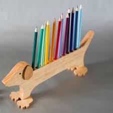 Image result for wood pencil holder