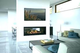 idea double sided fireplace indoor outdoor and two sided fireplace indoor outdoor 2 gas home design