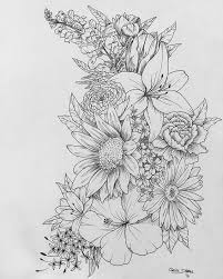Small Picture Best 25 Floral drawing ideas on Pinterest Future tattoos Where