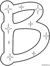 Small Picture Coloring page Letter B star Coloringme