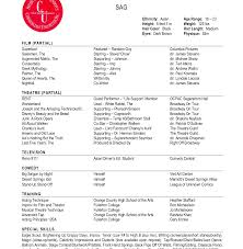 Musical Theatre Resume Resume Template Sample Musical Theatre Magnificent Theater Free 48