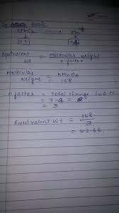 Equivalent Weight Chart What Is The Equivalent Weight Of Kmno4 Quora