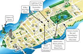 simple map of new york  travel maps and major tourist attractions