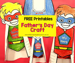 Free Craft Printables Templates Fathers Day Superhero Craft Printable Template A Plus