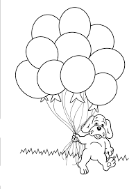 Small Picture Dog with balloon coloring pages ColoringStar