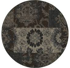 oriental weavers revival 4712c charcoal teal geometric area rug contemporary area rugs by rugmethod