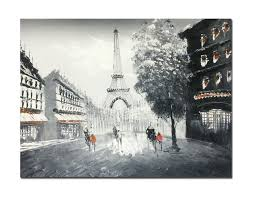 Eiffel Tower Home Decor Accessories Simple Muzagroo Art Oil Paintings Hand Painted Paris Eiffel Tower Wall