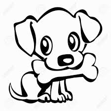 Small Picture How To Draw A Cute Puppy Throughout Drawings Es Coloring Pages