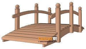 arched garden bridge plans