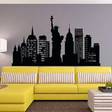 new city skyline wall decal silhouette decals cityscape vinyl
