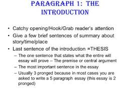 writing is an act of invention paragraph essay the formula  paragraph 1 the introduction