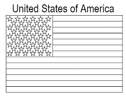 Geography Blog United States Flag Coloring Page