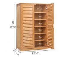 wooden shoe cabinet bamboo shoe rack solid wood simple shoebox storage room shoe rack multilayer