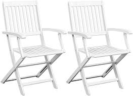 Festnight Folding Dining Chairs, Outdoor <b>Patio Chairs 2 pcs</b>, for ...