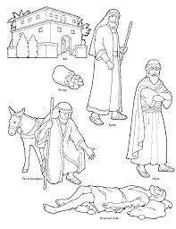 Good Samaritan Coloring Page Free The Pages For Kids Halloween