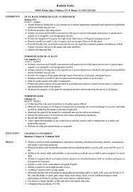 Casino Dealer Resume Example