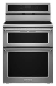 kfid500ess 30 kitchenaid 6 7 cu ft electric 5 burner induction double oven convection range stainless steel