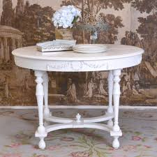 Shabby Chic Round Dining Table Table Cream And Chairs Ebay Harbor