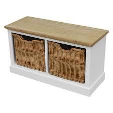 shabby chic unit with wicker storage baskets