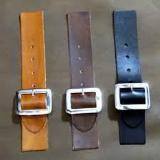 kilt strap sew on or cloak in black leather