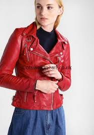 women s leather jacket red freaky nation biker princess special style leather jackets oy11167 larger image