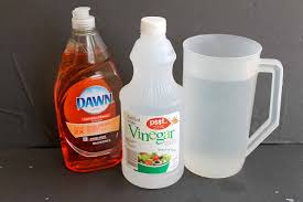 outdoor window cleaner recipe 2 cups water ¼ cup white vinegar ½ tsp dish detergent