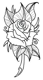 Coloring Page Of A Rose Lulucafeclub