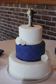 Blue and White Quilted Wedding Cake | Xtra Special Cakes & Blue and White Quilted Wedding Cake Adamdwight.com