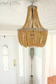 diy beaded chandelier in a blue foyer 7 amazing diy chandeliers