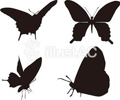 蝶のシルエットイラスト No 339013無料イラストならイラストac