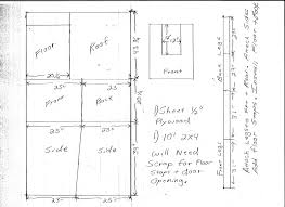 dog house flat roof plans