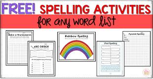 Activities Word Free Spelling Activities Mrs Winters Bliss