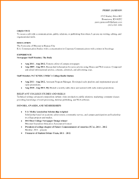 Best Ideas Of Job Resume Examples For College Students Examples Of