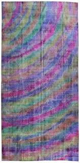 overdyed and patchwork rug gallery rainbow overdyed rug hand knotted in turkey