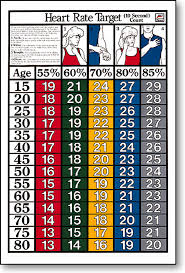 Workout Heart Rate Chart 10 Sec Target Heart Rate Fitness Chart F15
