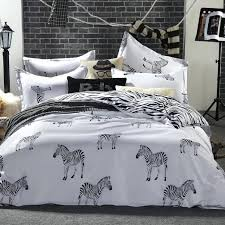 zebra quilt covers black and white zebra bedding set king queen double full twin size duvet