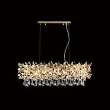 <b>Подвесная люстра Crystal</b> Lux Romeo SP8 Gold L1000