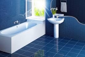 Simple Blue Bathroom Tiles Whitebathroominteriorsonblueceramicfloorand B Throughout Design