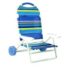 folding beach chair on wheels cart by rio