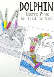 Free Colouring Pages For Grown Ups Dolphins Red Ted Art