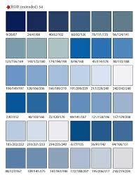 Blue Color Swatch Chart Printable Rgb Color Palette Swatches My Practical Skills