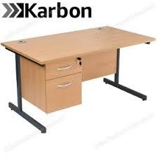 Image Shaped Next Day Karbon K1 Rectangular Cantilever Office Desks With Single Fixed Pedestal Nextcouk Next Day Karbon K1 Rectangular Cantilever Office Desks With Single