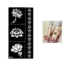 1 Sheet Temporary Black Henna Lotus Flowers Stencil Tattoo Bracelet Lace Design Sex Women Makeup Tip Body Art Sticker Paper S256