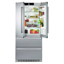 refrigerator no ice maker. liebherr 36 inch stainless steel refrigerator / freezer with ice maker - cs-2062 no l