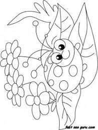 Small Picture Coloring pages frog butterfly and flower with ladybug Spring