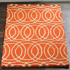 orange contemporary rugs linked life circles rug orange contemporary rugs