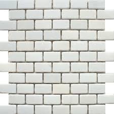 White Kitchen Tiles For Kitchen Backsplash A Matt White Natural Stone Mosaic Tile In A