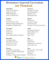 Fall Lesson Plans For Toddlers Montessori At Home Preschool Plans Free Unit Study Printable