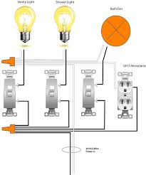 wiring diagram for gfi and light switch the wiring diagram replacing a bath fan switch electronic timing device wiring diagram